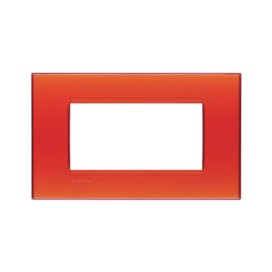 Placca BTICINO Living light 4 moduli arancione