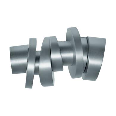 Finale per bastone Ø20mm Danau cilindro in metallo cromo INSPIRE