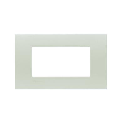Placca BTICINO Living light 4 moduli argento