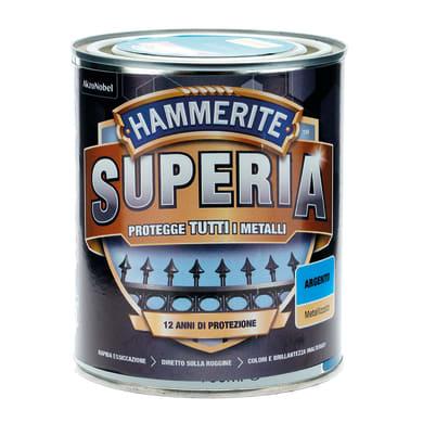 Smalto  antiruggine HAMMERITE Hammerite Superia argento 0.75 L