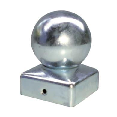 Copri pilastro quadro in acciaio x H 7.2 cm