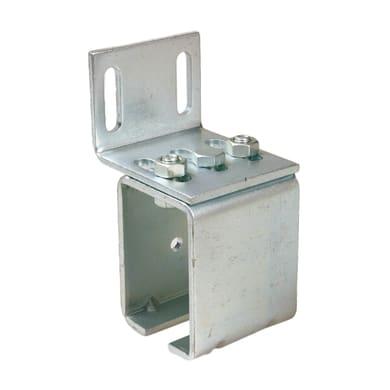 Supporti a parete per monorotaie in acciaio L 6 x H 1.1 cm