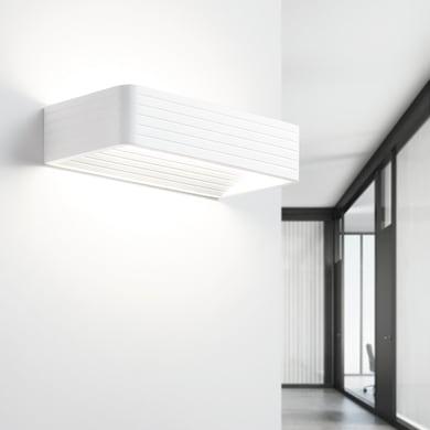 Applique design Limera LED integrato bianco, in gesso,  D. 25 cm 25 cm, TECNICO