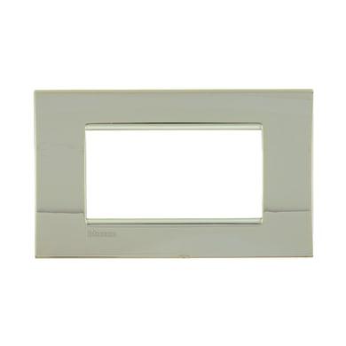 Placca BTICINO Living light 4 moduli oro freddo