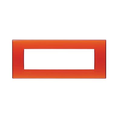 Placca BTICINO Living light 7 moduli arancio