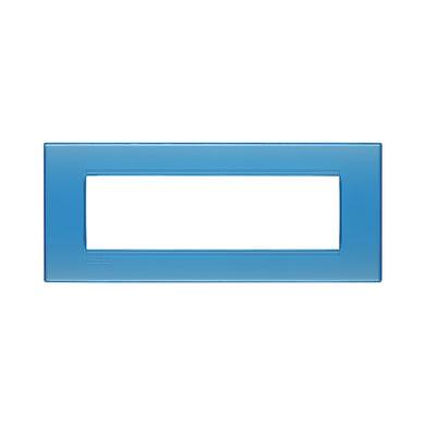 Placca BTICINO Living light 7 moduli azzurro