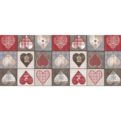 Tovaglia Cerata grigio/rosso 140x220 cm