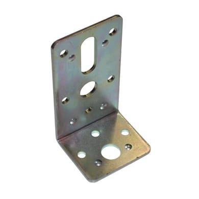 Piastra angolare standers in acciaio zincato L 90 x Sp 3 x H 50 mm