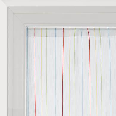 Tendina vetro Irene bianco tunnel 45 x 240 cm