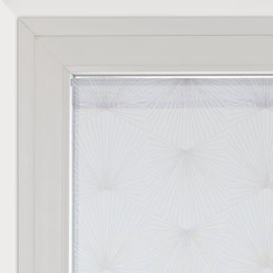 Tendina vetro Kita bianco e grigio tunnel 45 x 120 cm