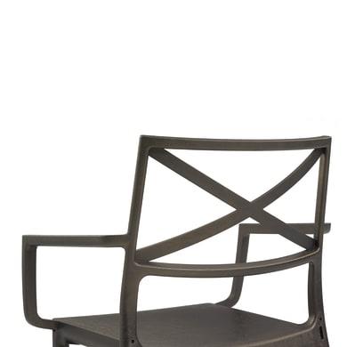 Sedia da giardino senza cuscino in resina iniettata Metalix KETER colore marrone