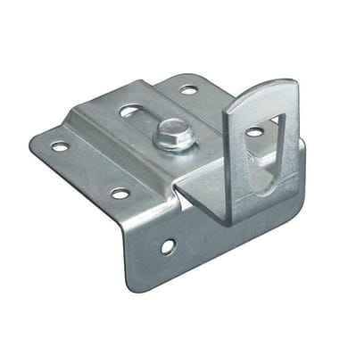 Piastra dritta in acciaio zincato L 45 x H 55 mm