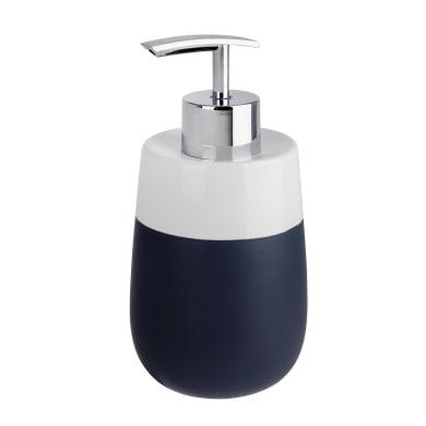 Dispenser sapone Malta bianco-blu scuro