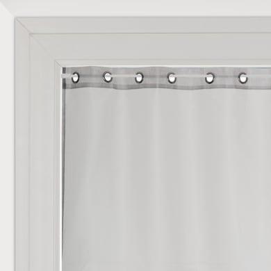Tendina vetro Metal argento occhielli 90 x 210 cm
