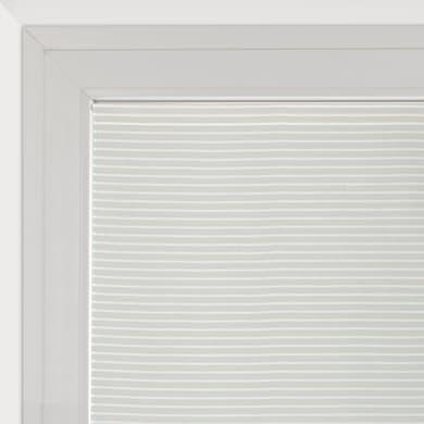 Tendina vetro Milly bianco e beige tunnel 90 x 160 cm