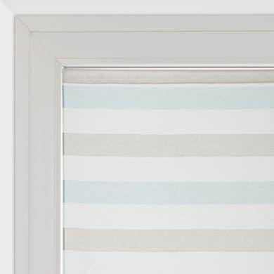 Tendina vetro Molly azzurro e beige tunnel 120 x 160 cm