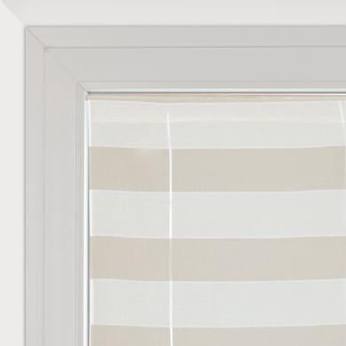 Tendina a vetro regolabile Molly bianco e beige tunnel 58 x 175 cm