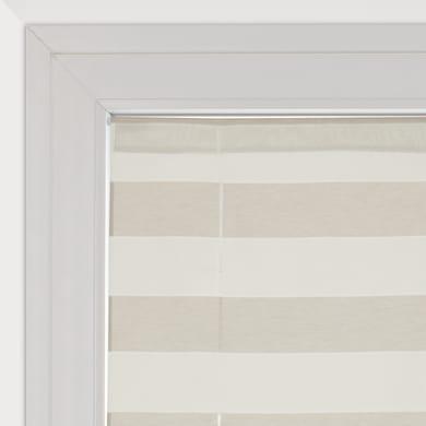 Tendina vetro Molly bianco e beige tunnel 58 x 235 cm