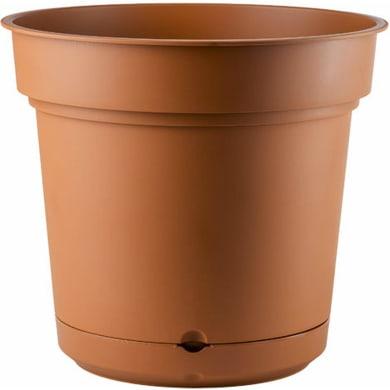 Vaso in plastica colore marrone H 21 cm, Ø 23 cm