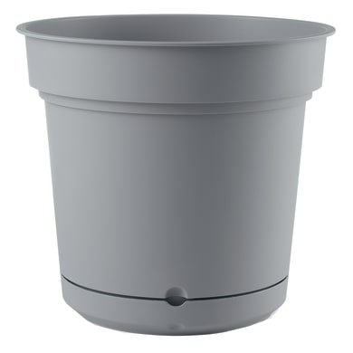 Vaso in plastica colore grigio H 21 cm, Ø 23 cm