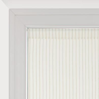 Tendina vetro Natura bianco tunnel 45 x 90 cm