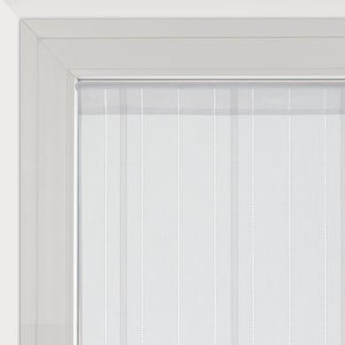 Tendina vetro Picasso bianco tunnel 45 x 240 cm