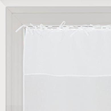 Tendina vetro Nouettes bianco lacci 90 x 210 cm