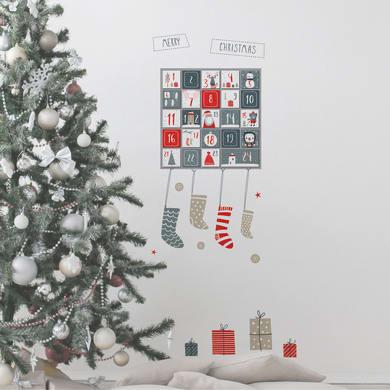 Sticker Calendario dell'avvento 31x31 cm