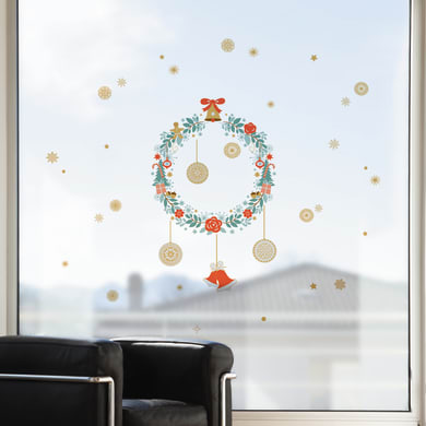Sticker Garland two bells 22.5x67 cm