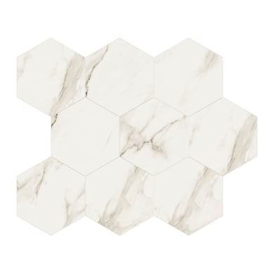 Mosaico H 7 x L 30.5 cm bianco