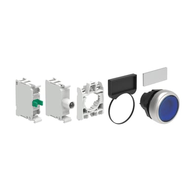 Pulsante LOVATO LPCBL106V305 luminoso blu