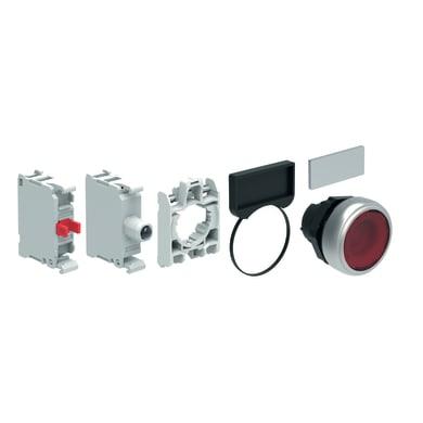 Pulsante LOVATO LPCBL104V305  luminoso rosso