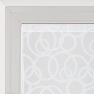 Tendina vetro Roundy bianco tunnel 60 x 160 cm