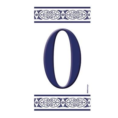 Numero civico Greca 0 , 7.5 x 15 cm
