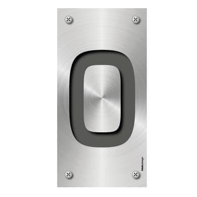 Numero civico Metal 0 , 7.5 x 15 cm
