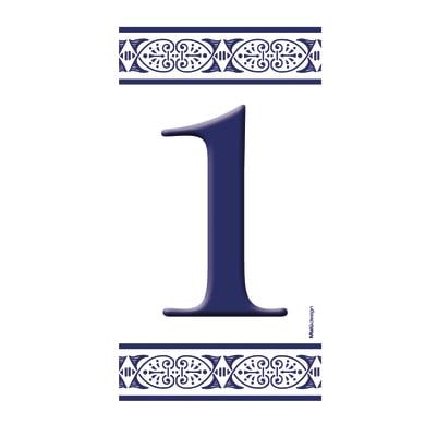 Numero civico Greca 1 , 7.5 x 15 cm