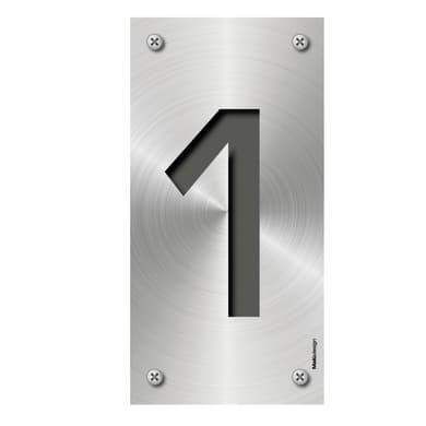 Numero Metal 1 , 7.5 x 15 cm