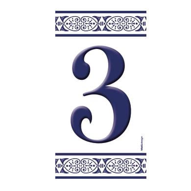 Numero civico Greca 3 , 7.5 x 15 cm