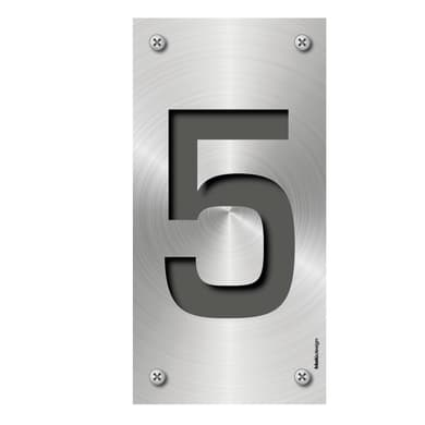 Numero Metal 5 , 7.5 x 15 cm