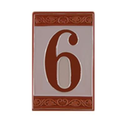 Numero CIVICO 6 CERAMICA , 6.5 x 11 cm