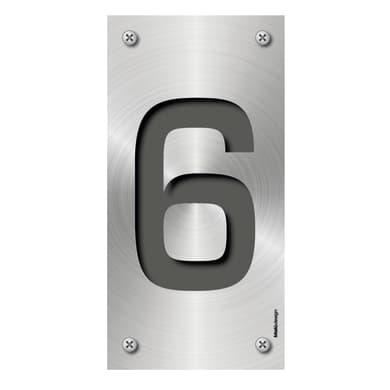 Numero Metal 6 , 7.5 x 15 cm
