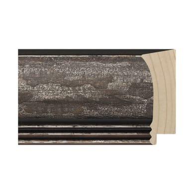 Asta per cornice Marta in legno rilievo nero 6 cm