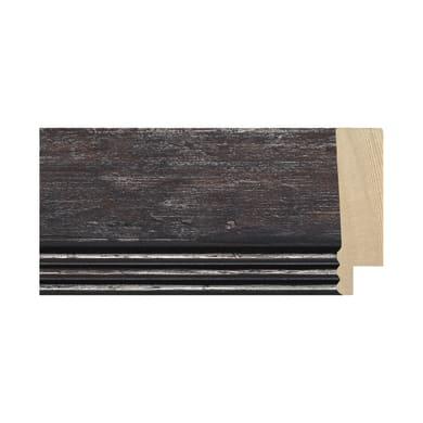 Asta per cornice Marta in legno rilievo nero 4.2 cm