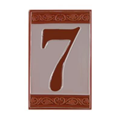 Numero CIVICO 7 CERAMICA , 6.5 x 11 cm