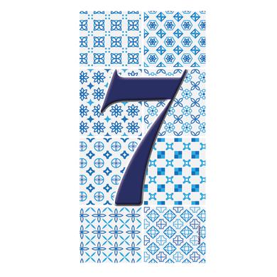 Numero civico Arabesque 7 , 7.5 x 15 cm