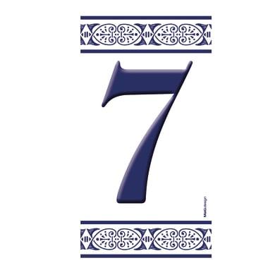 Numero civico Greca 7 , 7.5 x 15 cm