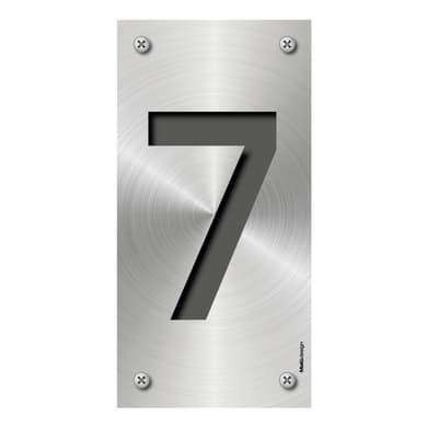 Numero civico Metal 7 , 7.5 x 15 cm