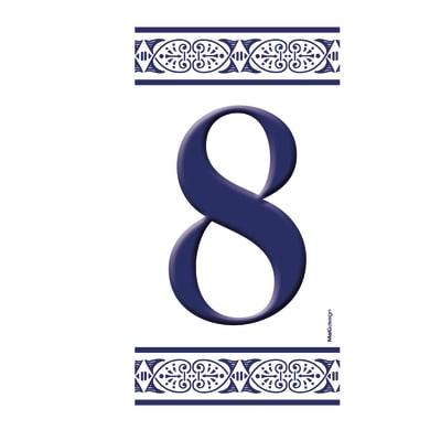 Numero civico Greca 8 , 7.5 x 15 cm