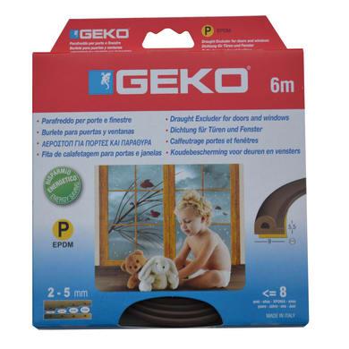 Guarnizione isolante per porte e finestre adesivo Geko marrone