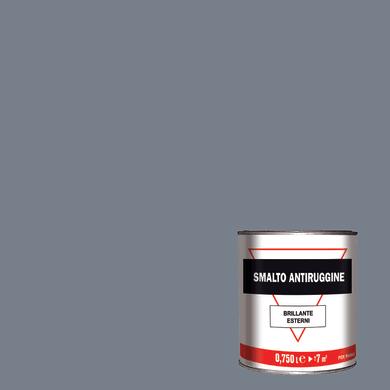 Smalto antiruggine grigio 0.75 L